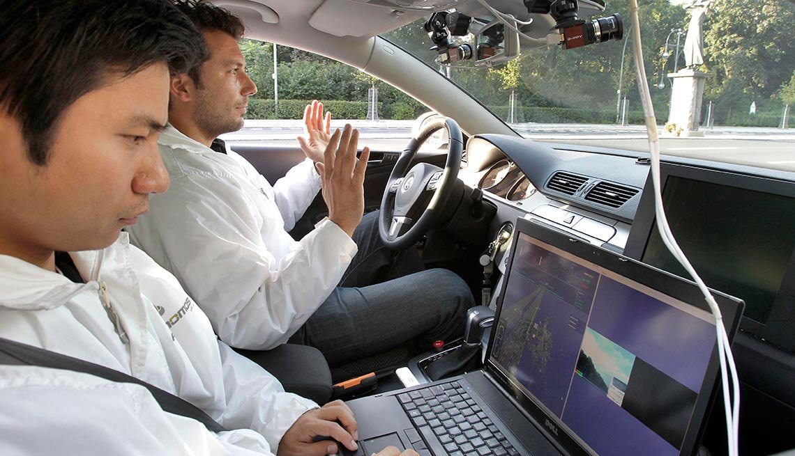 Researchers in a Driverless Car, Autonomous vehicles coming soon