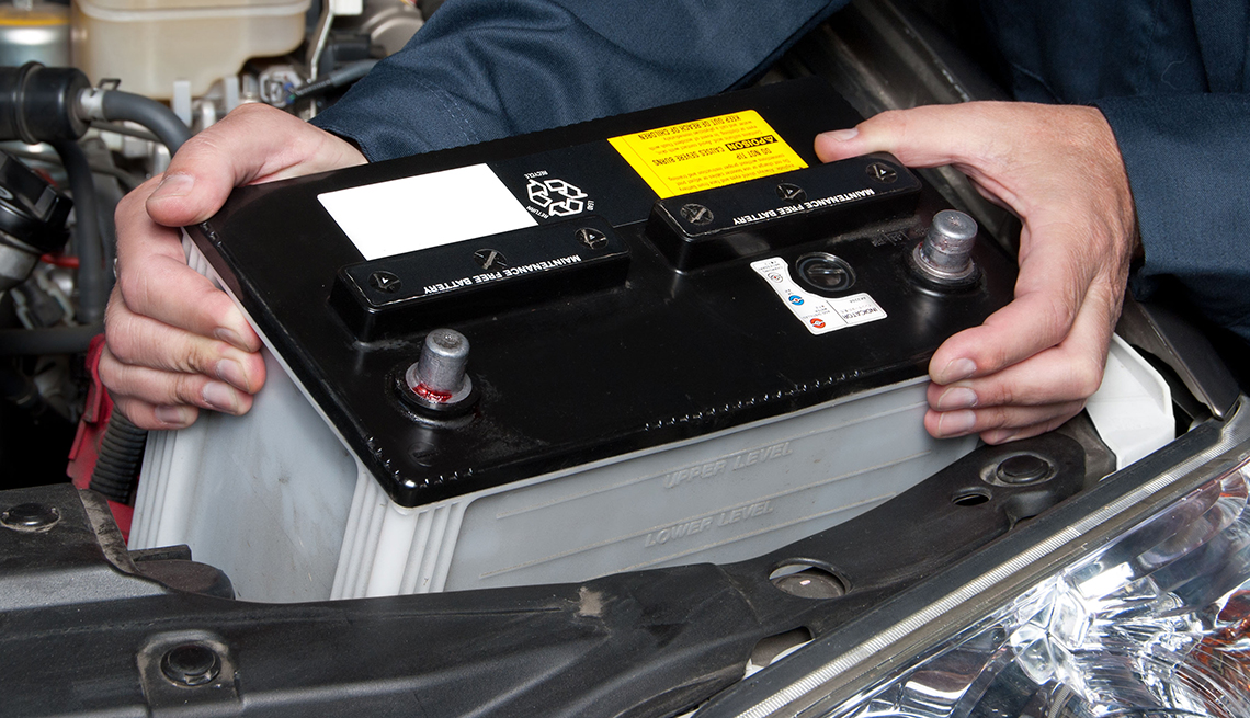 item 10 of Gallery image - auto safety checklist - battery