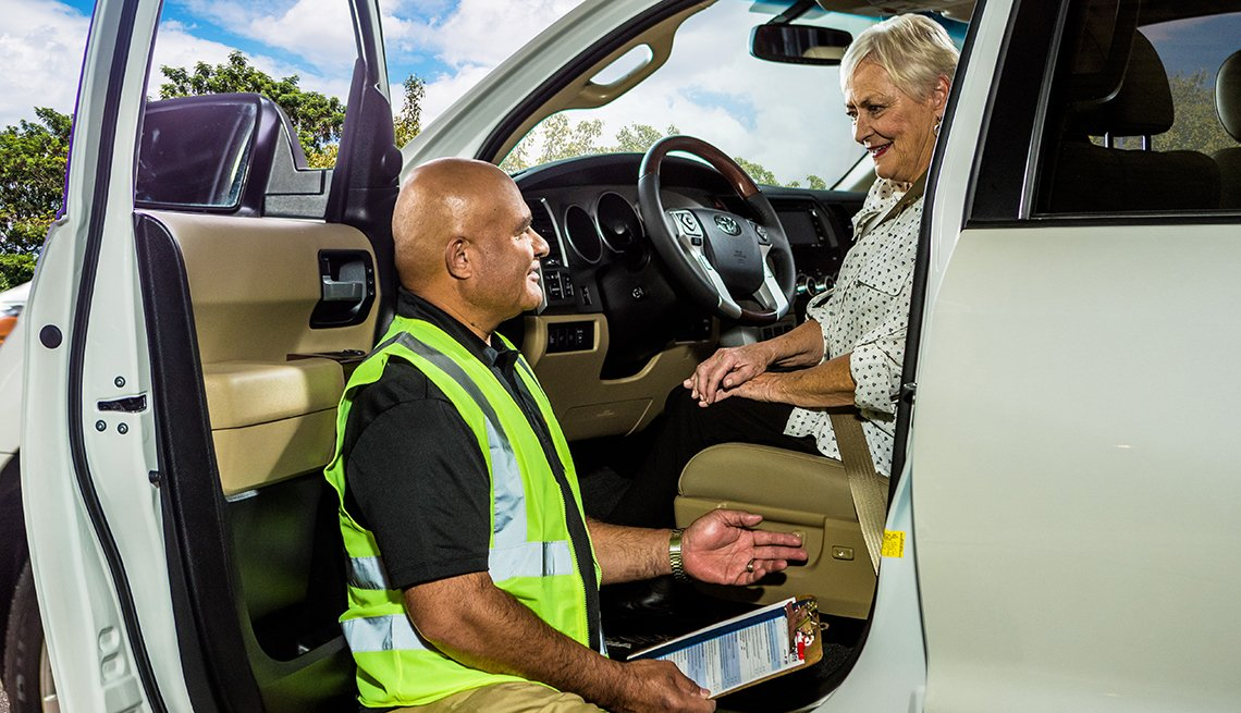Car fit assessment, Driver, Assessor, AARP Auto Driver Safety