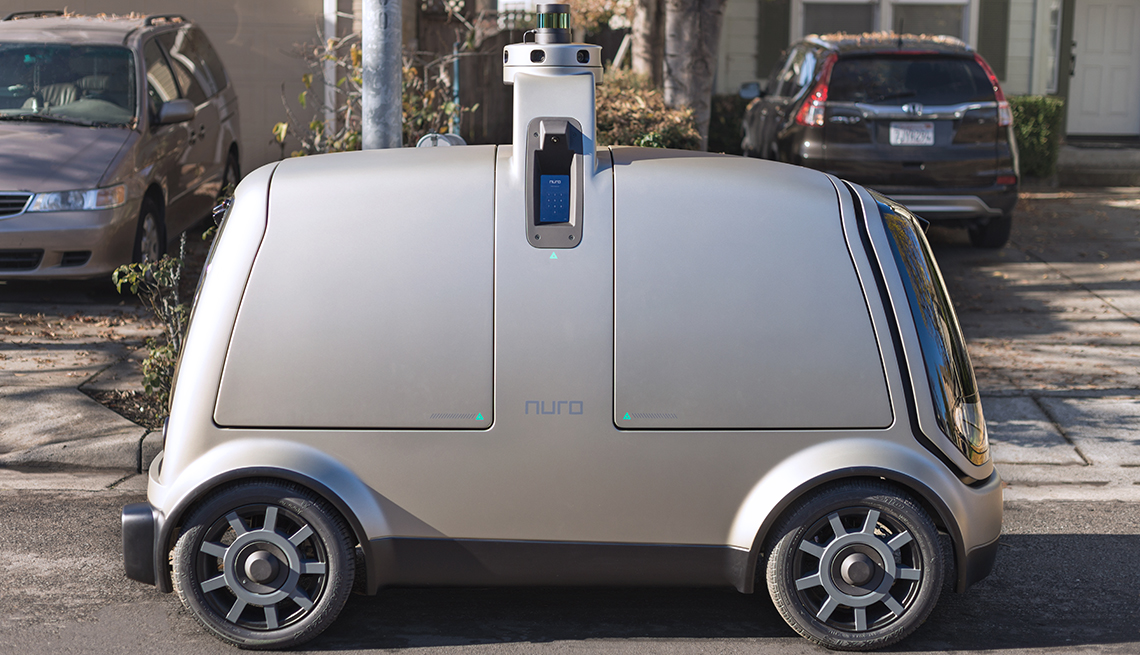 small wheeled vehicle with sensor on top