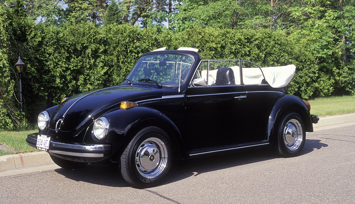 1974 black VW convertible