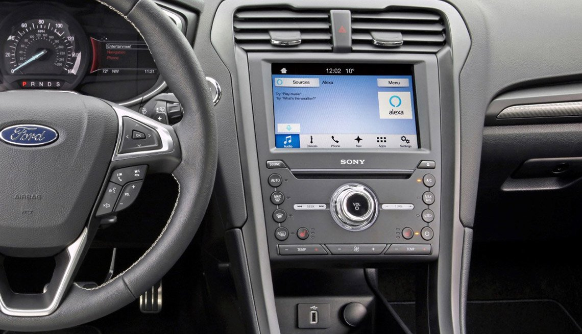Ford Focus with Alexa featured in dashboard