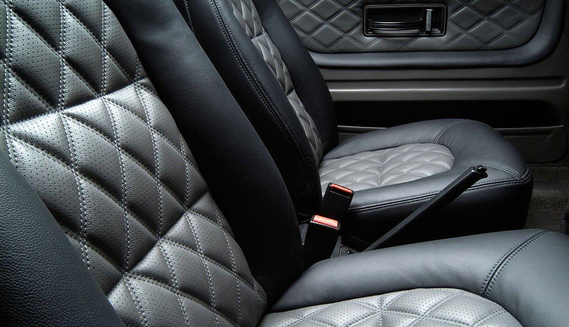 Leather car seat interior