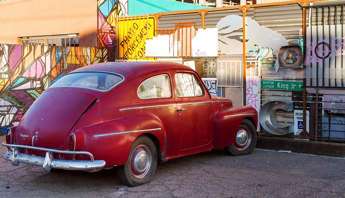 item 6 of Gallery image - 1960s Volvo PV544 sits parked in a lot