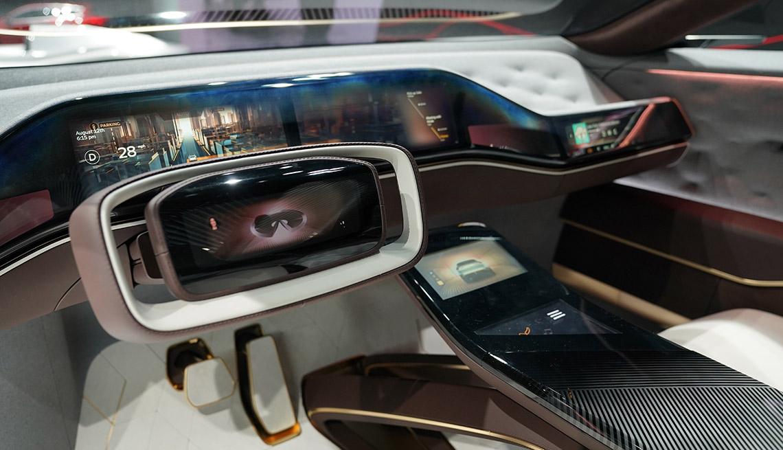 interior of 2019 Infiniti QX Inspiration Concept at the Detroit Auto Show