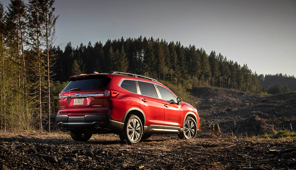 red Subaru Ascent