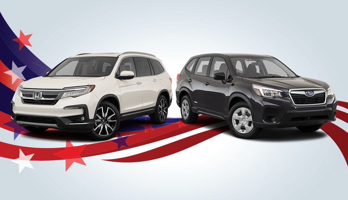 Honda and Subaru vehicles for AARP Auto Buying Labor Day promo