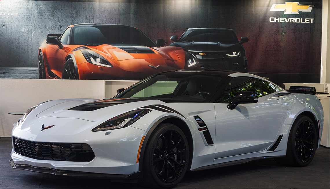 white Chevrolet Corvette C7 Stingray