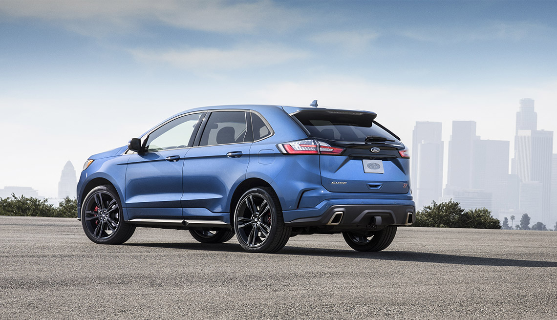 item 3 of Gallery image - 2019 blue Ford Edge ST