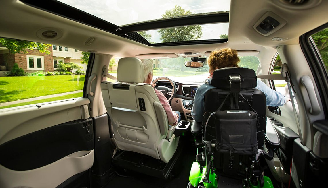 item 6 of Gallery image - Inside look at the BraunAbility plower wheelchair docking station