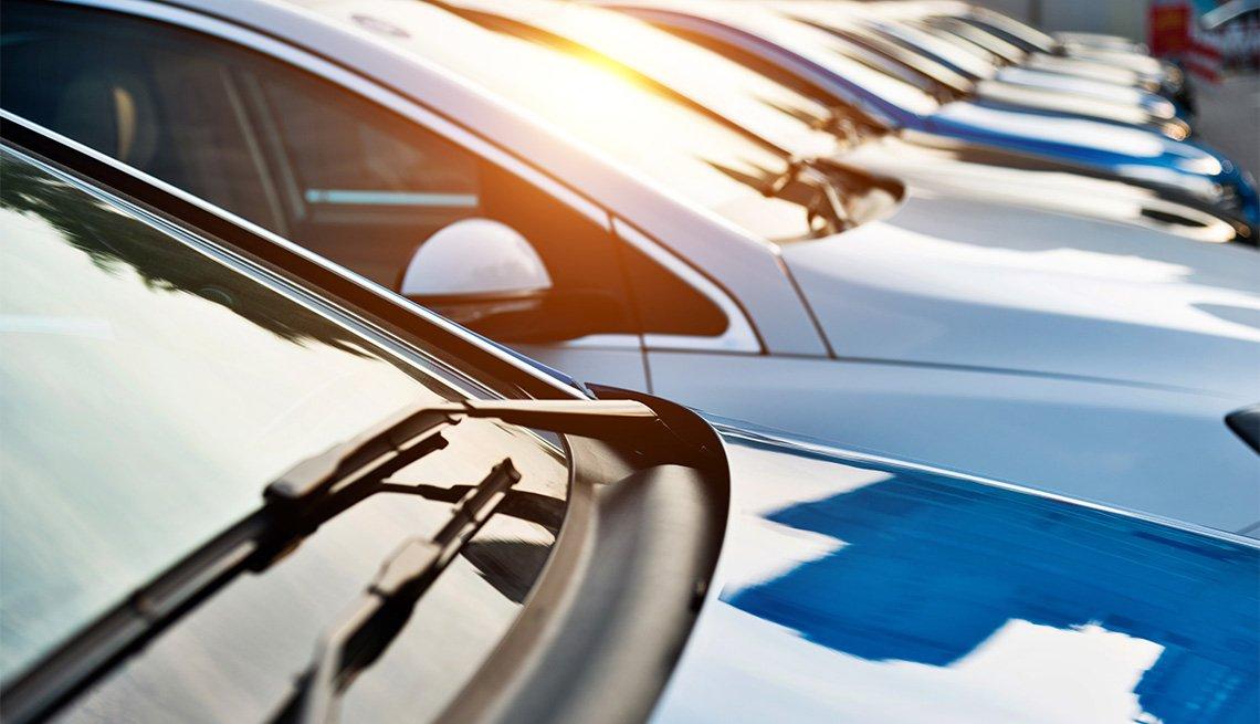 New cars parking at dealership