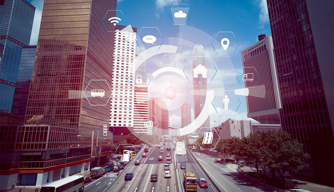 Imagen de un sistema de monitoreo de carreteras