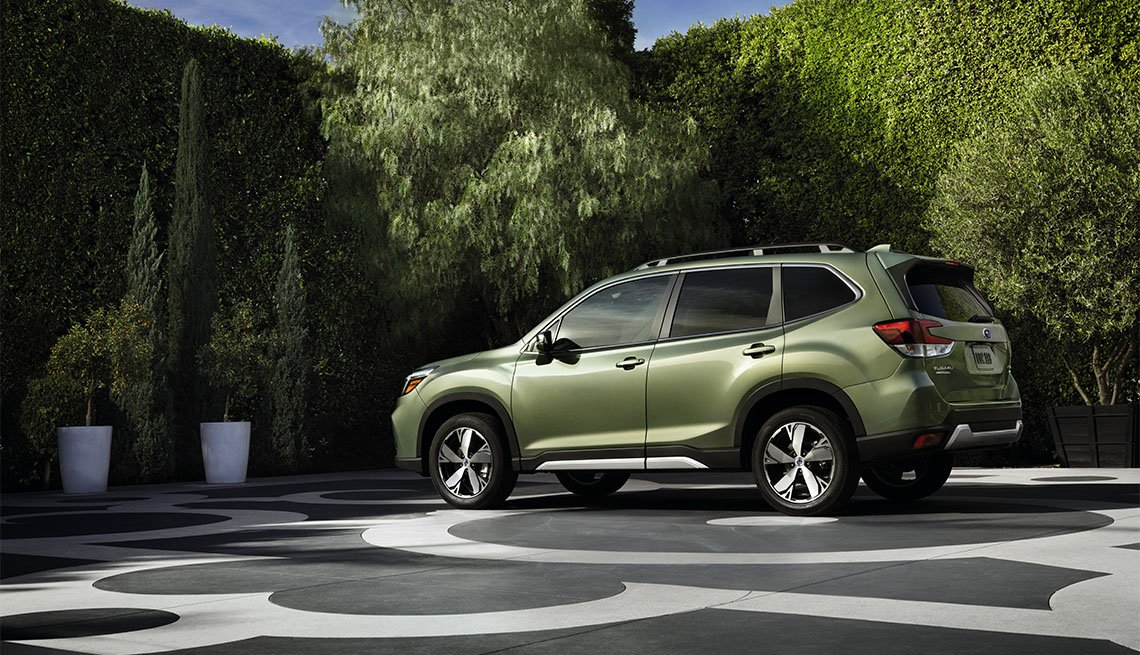 dark green 2020 Subaru Forester