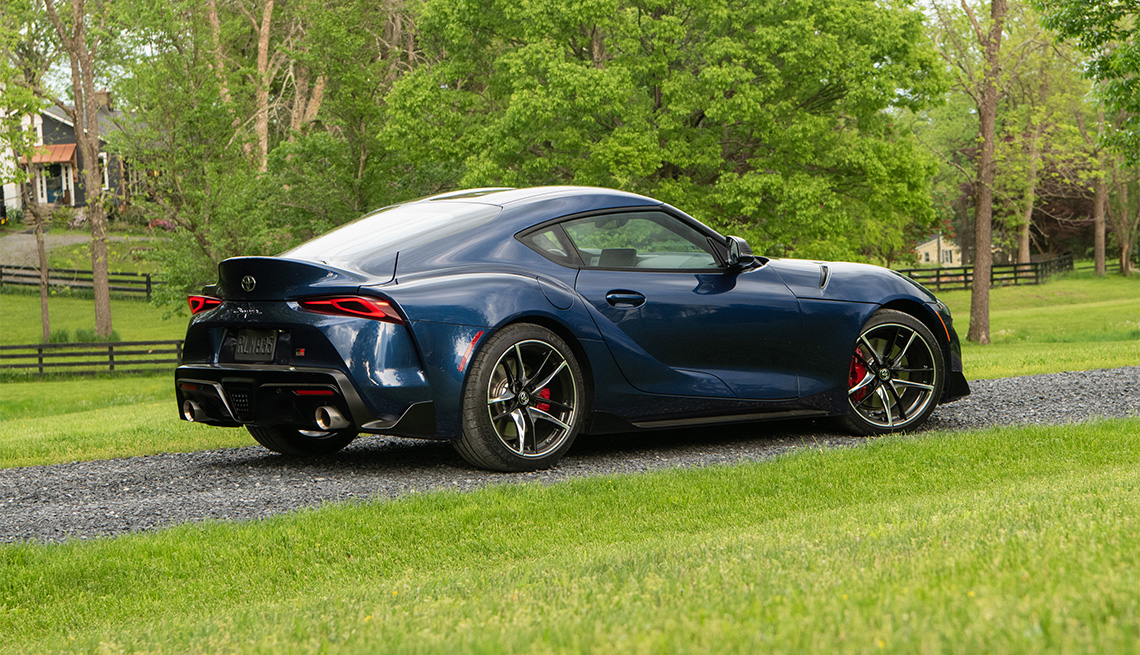 item 4 of Gallery image - dark blue 2020 Toyota Supra