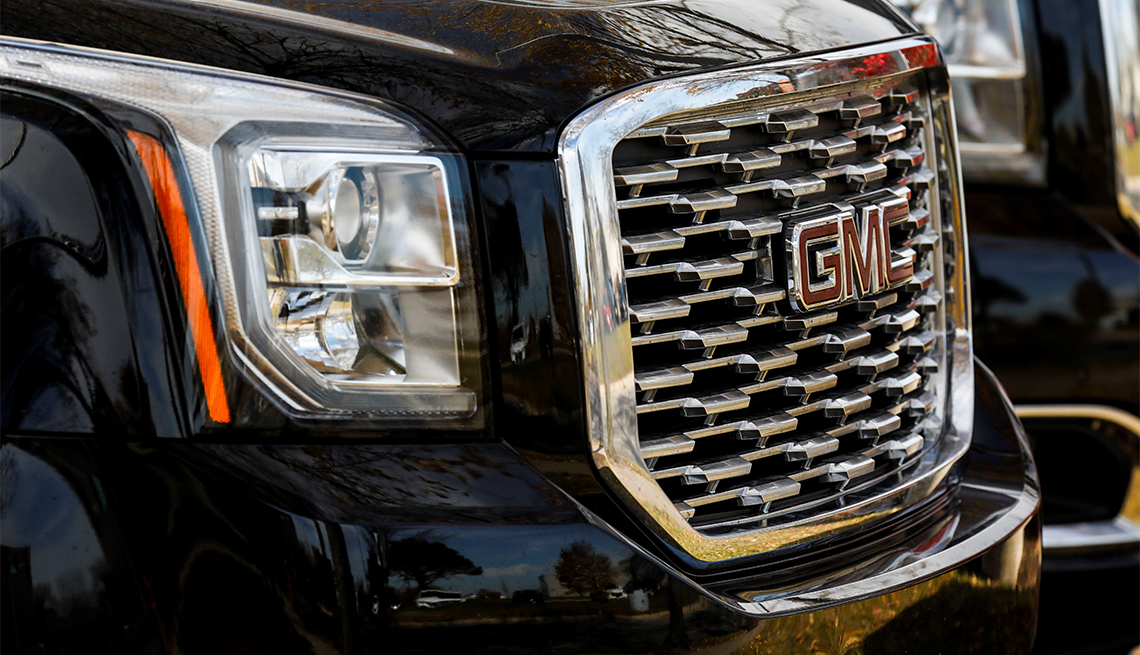 GMC Yukon sport utility vehicle at the Ziegler Cadillac, Buick and GMC Dealership in Lincolnwood, Illinois