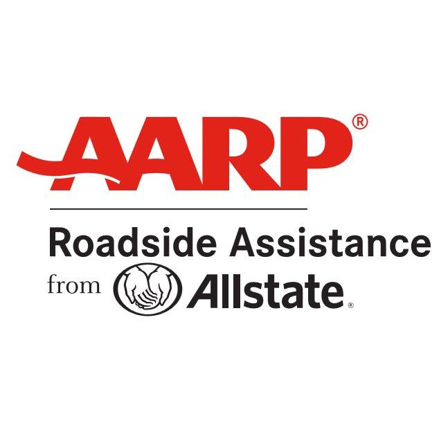 Logo AARP Roadside Assistance from Allstate