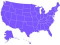 Mapa de los Estados Unidos de America