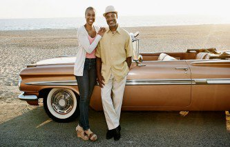 Couple-standing-By-Convertible