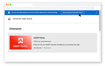 get aarp perks browser extension for microsoft edge