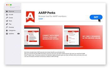 get aarp perks browser extension for safari