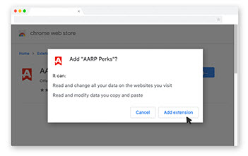 chrome add extension prompt