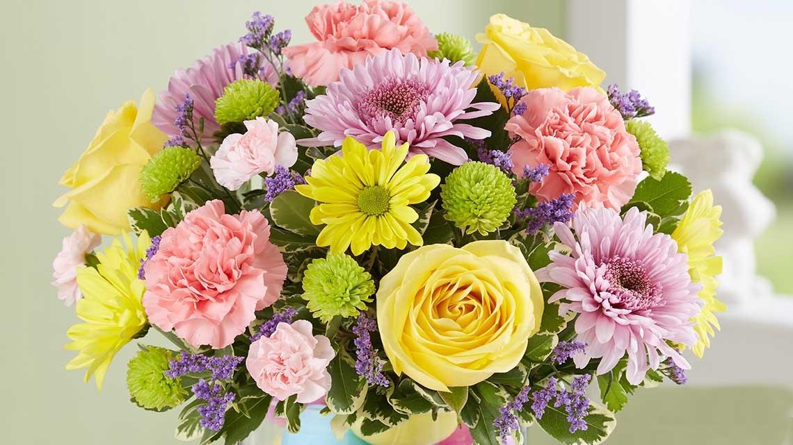 bouquet colorful fresh flowers
