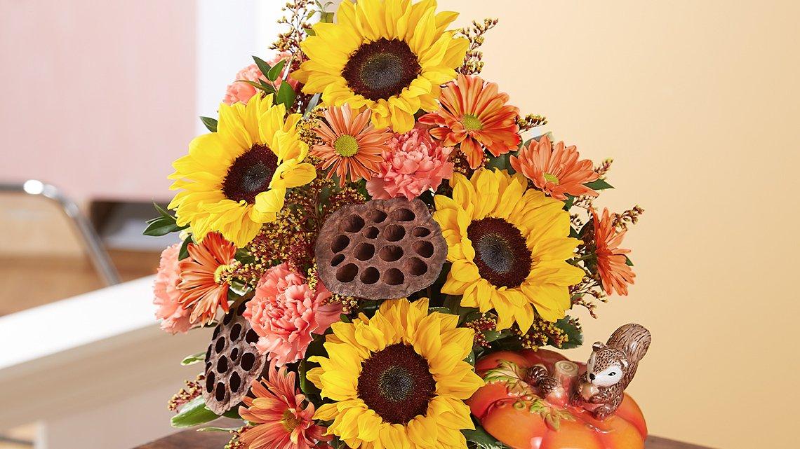 bouquet flowers fall colors