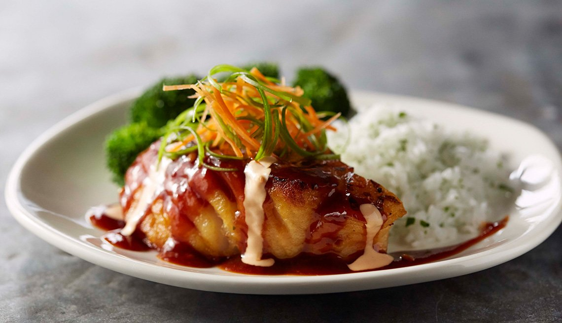 bonefish pan asian salmon dish