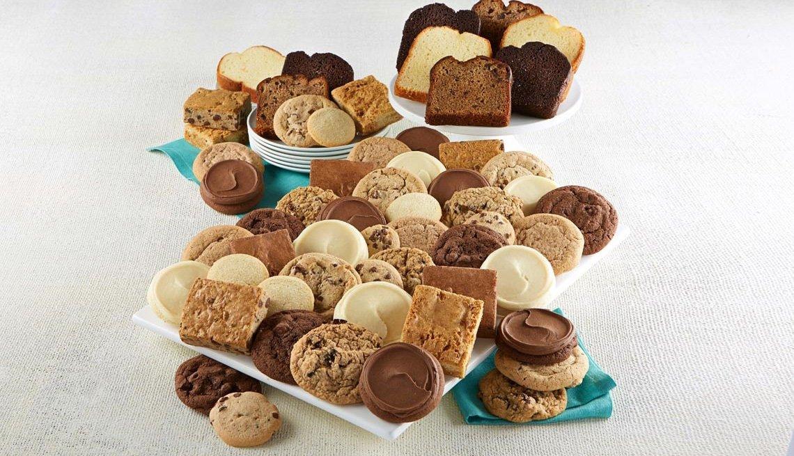 assortment of cookies displayed