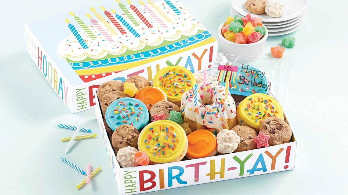 box of happy birthday items