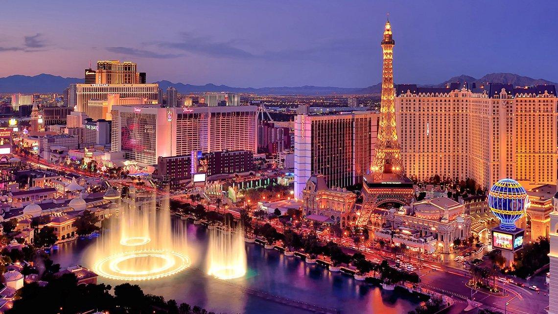 Las Vegas strip overhead shot