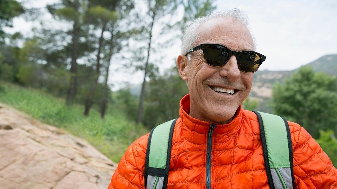 mature man outdoors sunglasses