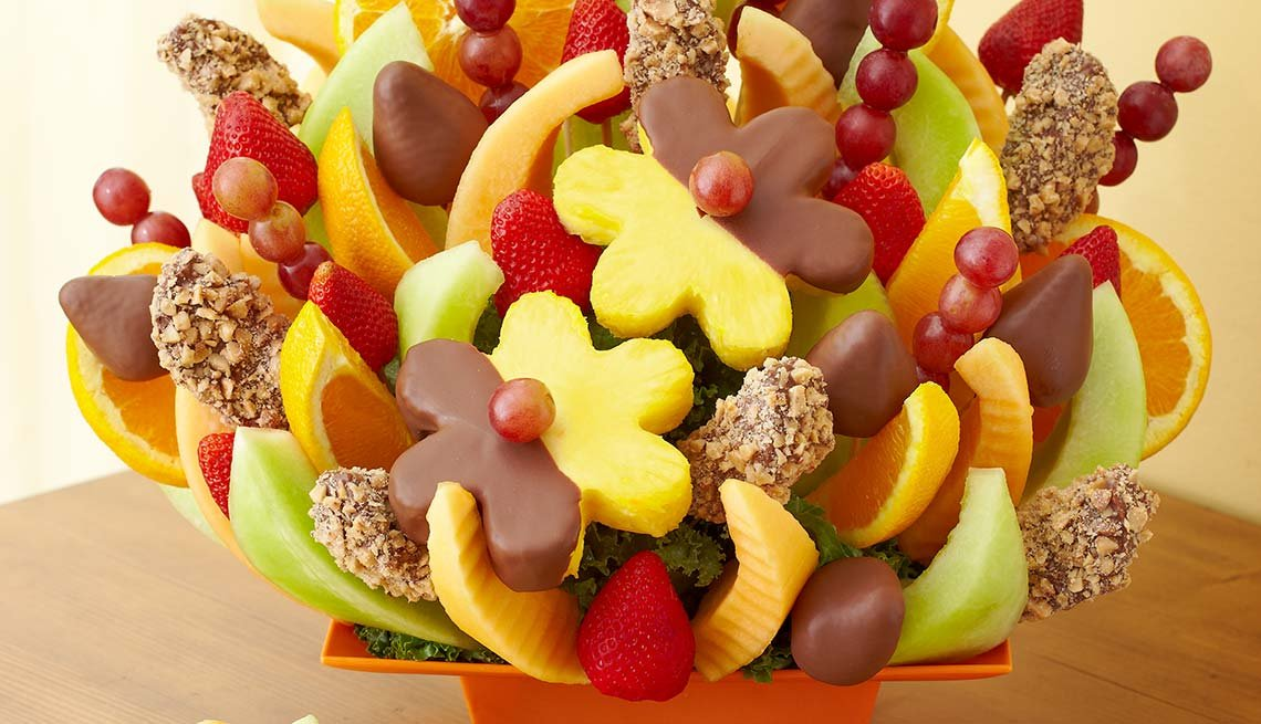 colorful fruit bouquet