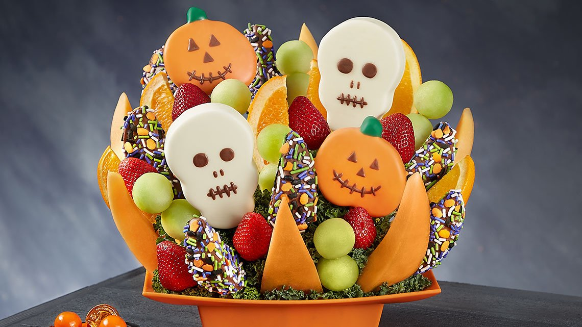 halloween themed fruits assortment