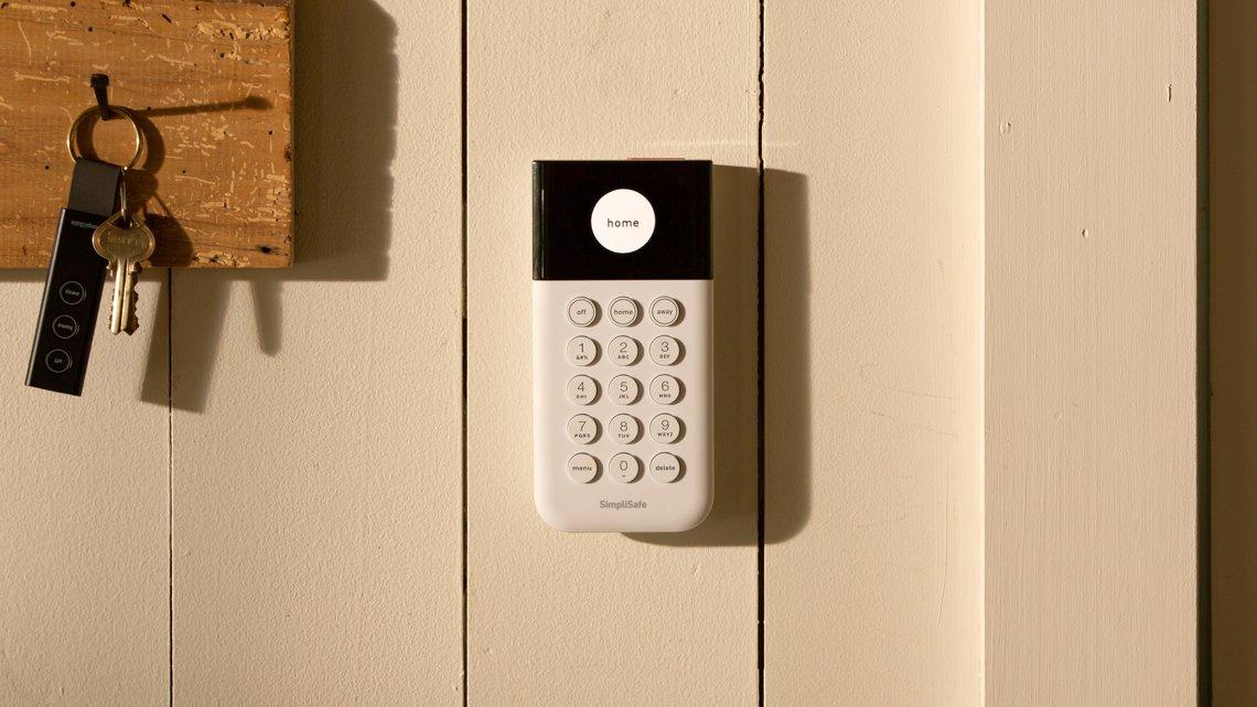 security keypad on wall