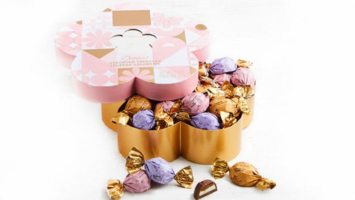 Candy in Flower Shaped Box