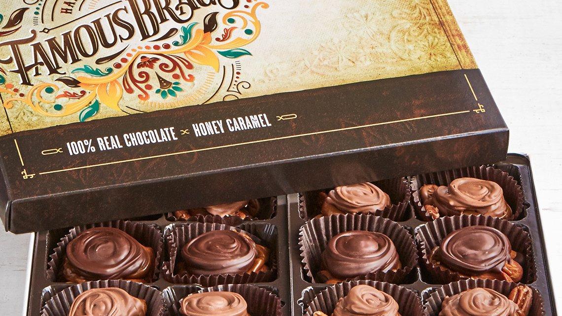 open box chocolates