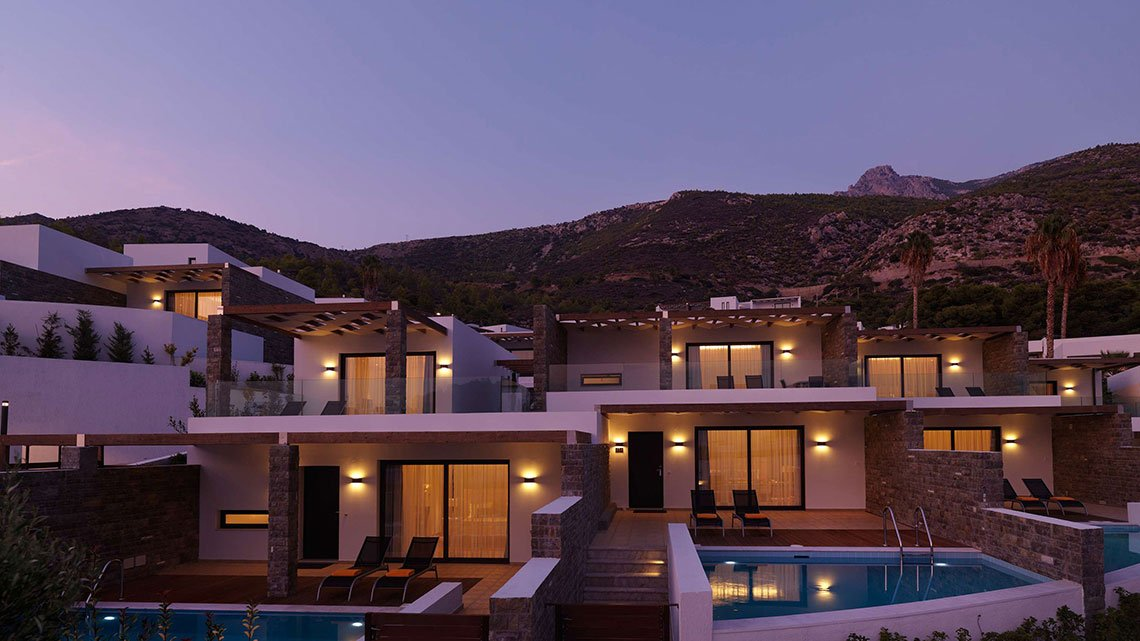 Wyndham hotel property at dusk