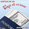 Sorteo de viaje de verano AARP VIVA. Participe para tener la oportunidad de ganar $1.500. Imagen de pasaporte con dinero.