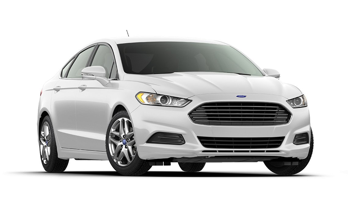 Silver Ford sedan, Budget Rent A Car, AARP Member benefits