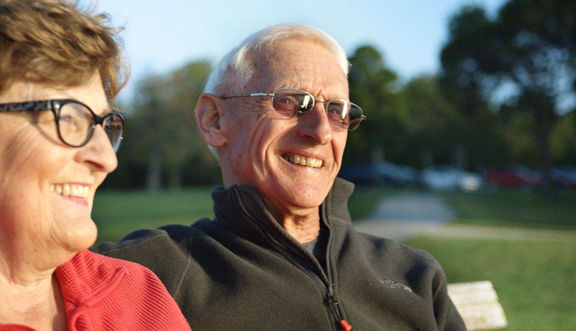 Mature Couple Smiling, Genentech November 2017