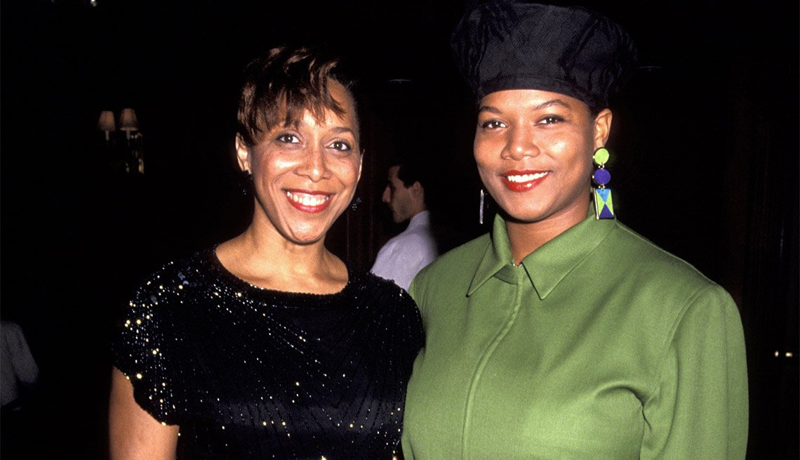 Queen Latifah and mother Rita Owens 1991