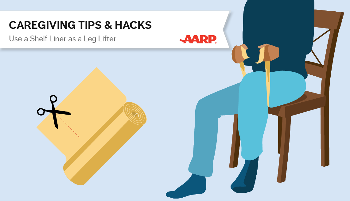 caregiving tips and hacks,an illustration of self liner used as leg liffter