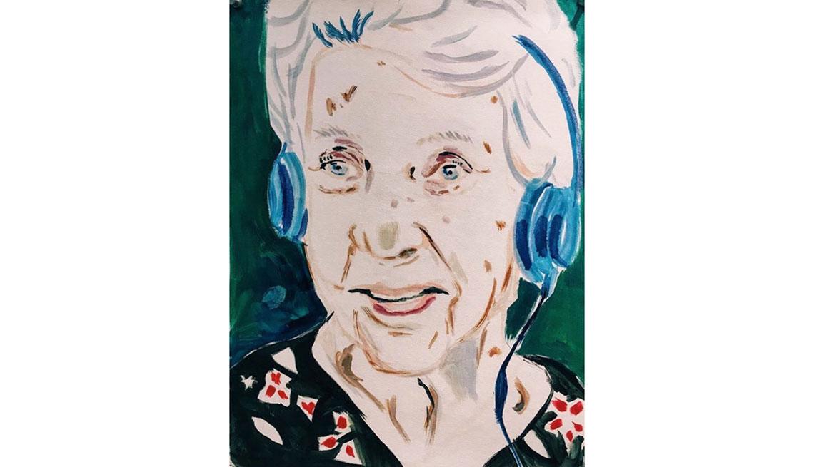 Pintura de la mamá de Mercedes Soler