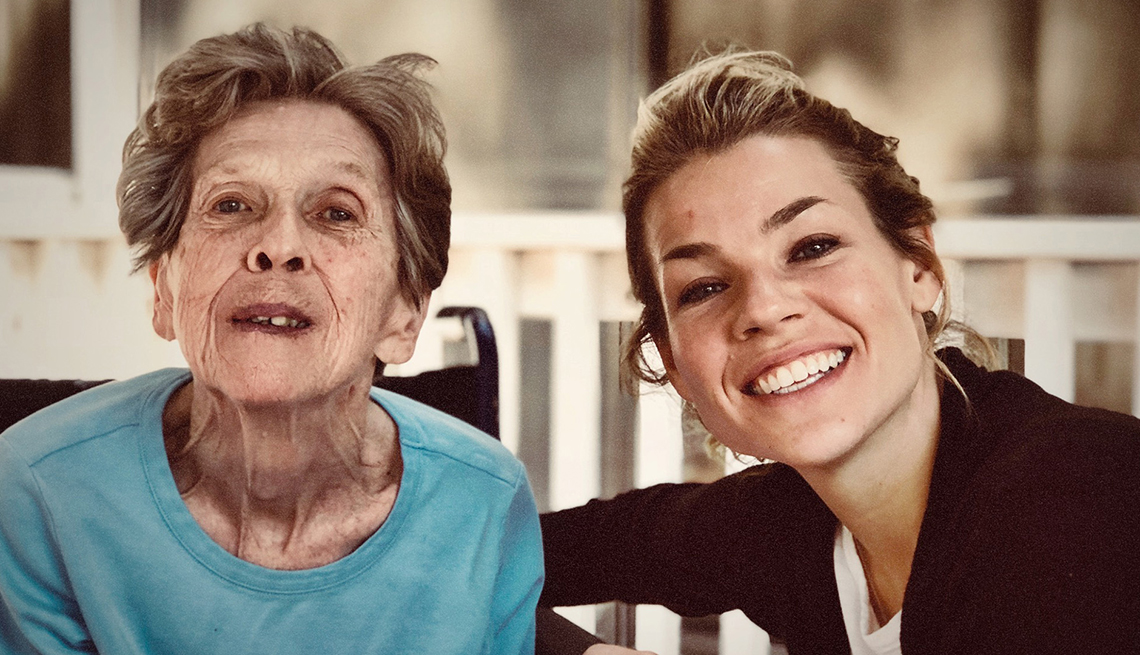 Director Elizabeth Chomko with her grandmother