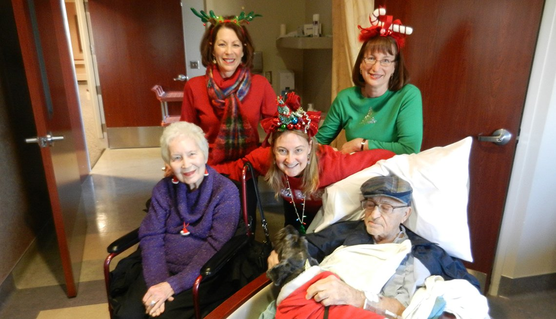 Caregiving expert Amy Goyer and her family at Christmas