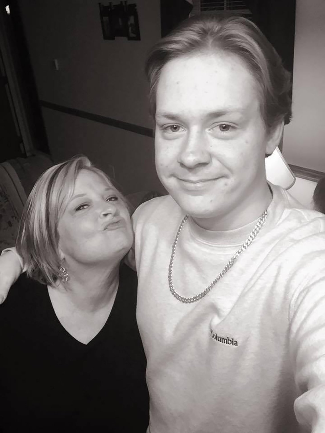 A photo of Amy Moss with her son, Brandon