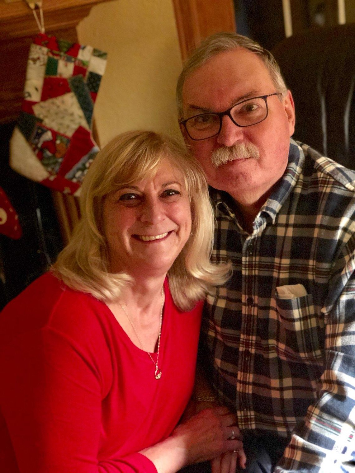 Carol Roche has been caring for her husband, Dave, after he was diagnosed with multiple sclerosis