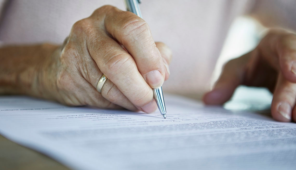 person signing a living will