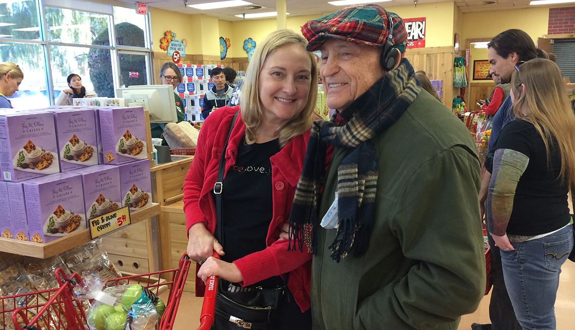 Amy Goyer shopping with her father